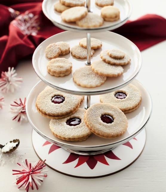 biscuits au beurre salé et à la pâte d'amandes