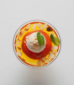 Recette de tomate Melba et son yogourt au fromage de chèvre