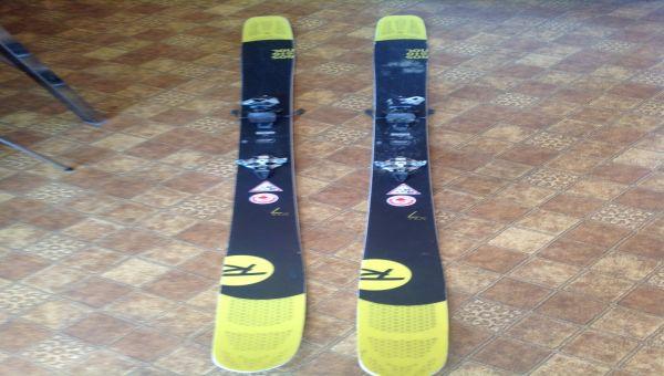 .Skis Rossignol Soul7 180cm avec Fix Dynafit Radical ST et peaux de phoques.