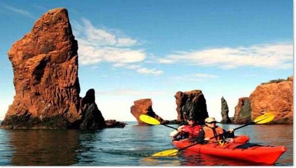 Superbe randonnée en kayak de mer-Baie de Fundy