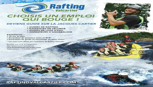 Guide de rafting sur la Jacques-Cartier