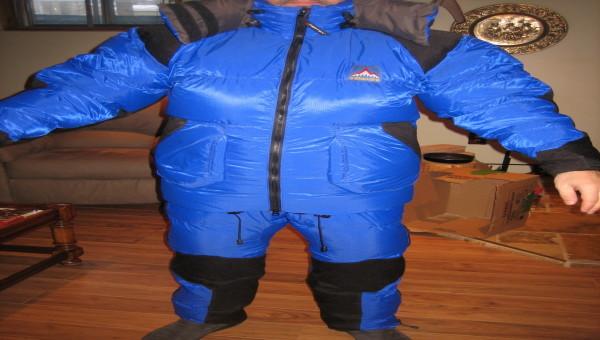 Jacket BERING et pantalon BAFFIN en duvet d'expedition de Valandré - MEDIUM