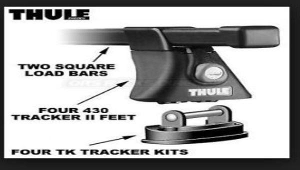 2 barres Thule pour chargement de support à kayak