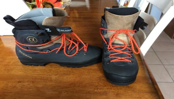 Bottes scarpa escalade de glace