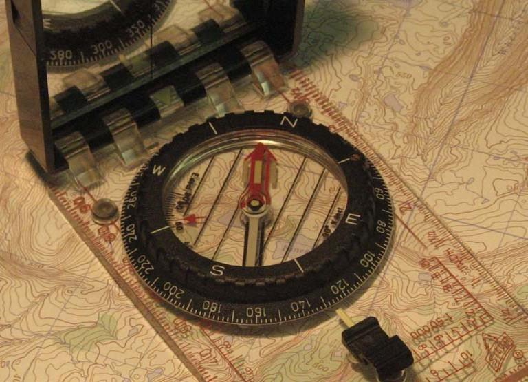 Carte boussole GPS