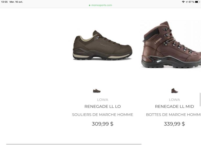 Chaussures randonnée LOWA, à vendre...