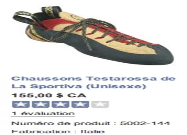 Soulier d'escalade Testarossa de La Sportiva
