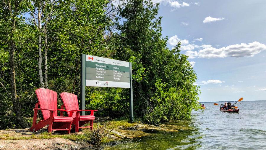 Kayak-camping au parc national des Mille-Îles