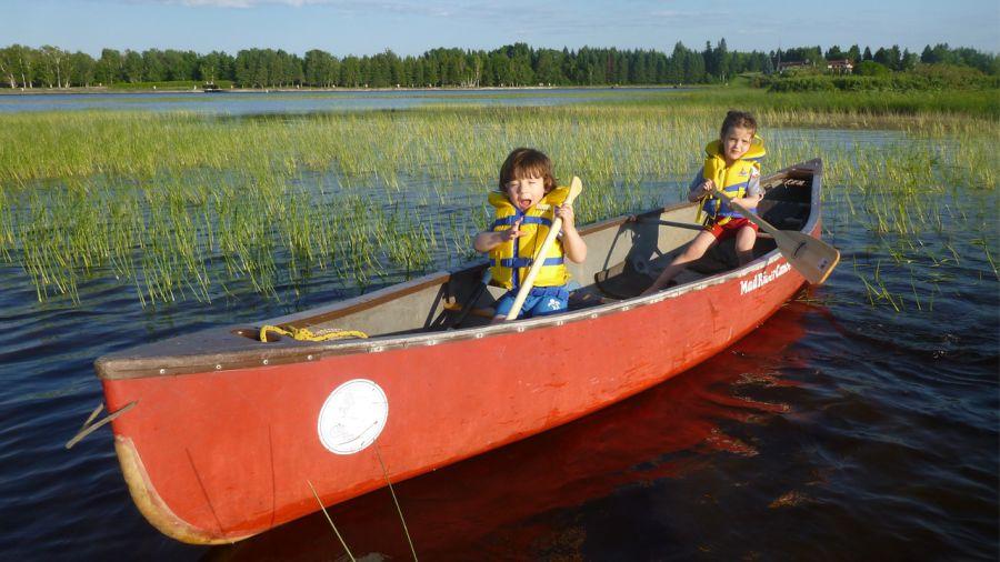Canot-camping en famille sur la rivière Mistassini