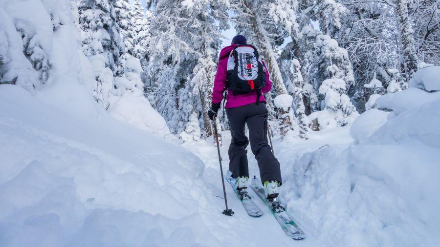 L'ascension à ski dans la peau