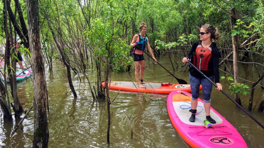 Rivière Yamachiche : planche à pagaie dans nos bayous
