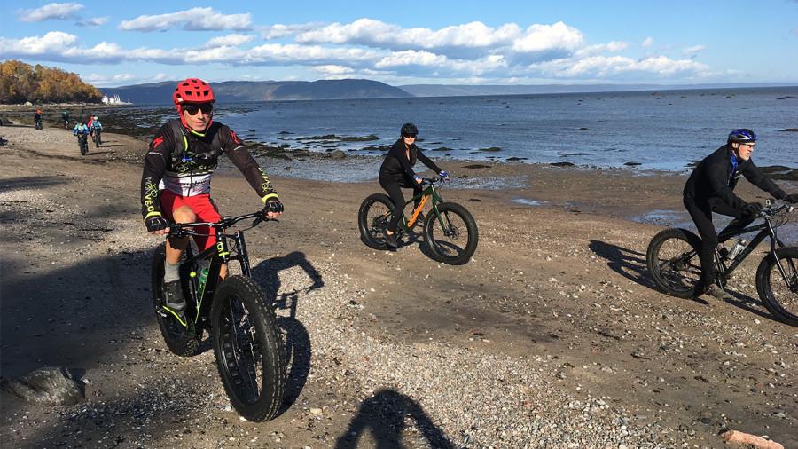 Côte-Nord : du fatbike à la plage
