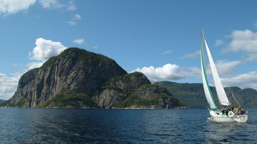 Vélo de route-voile sur le fjord du Saguenay
