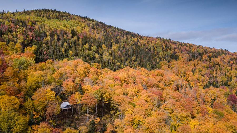 Dômes Charlevoix : un igloo quatre saisons avec vue