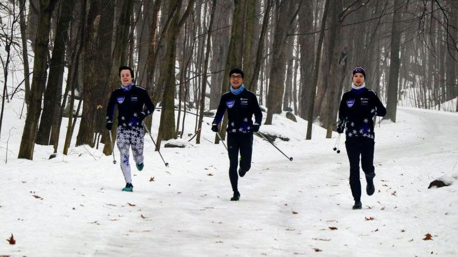 Ski striding : un entrainement exigeant à fond