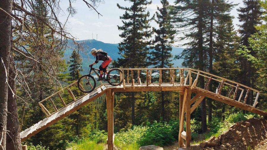 Gaspésie : Vélo de montagne à Murdochville