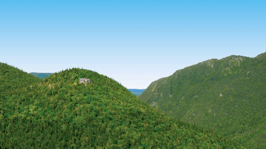 L'Auberge de montagne des Chic-Chocs : chambres avec vue