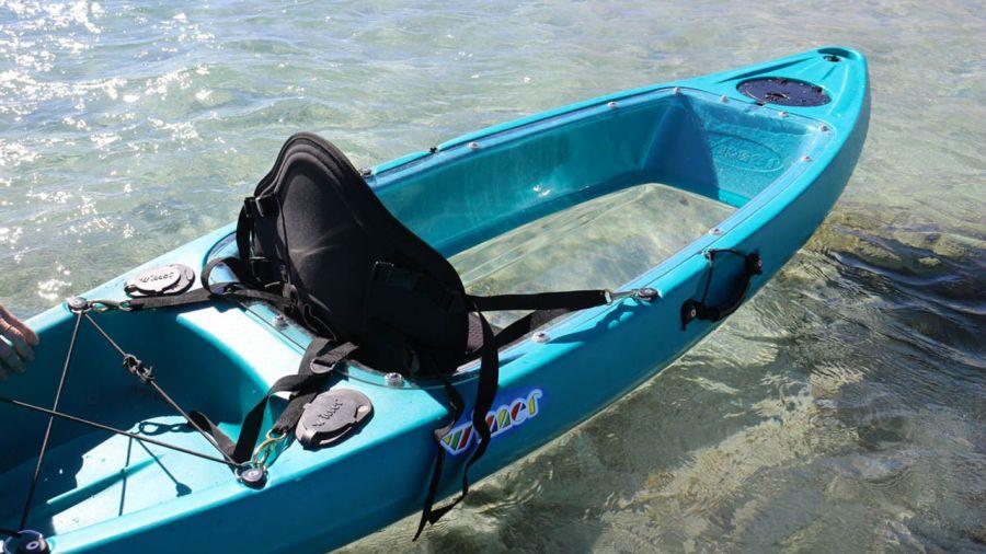 Kayak à fond transparent à Magog
