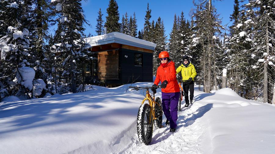Séjour fatbike et chalet : aventure surdimensionnée dans les monts Valin