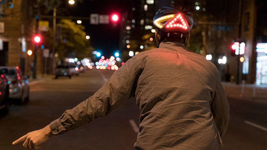 Lumos : un casque de vélo lumineux
