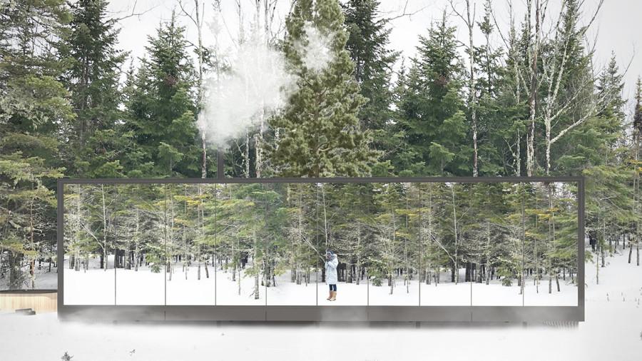 Des maisons miroirs à louer dans la forêt de Charlevoix