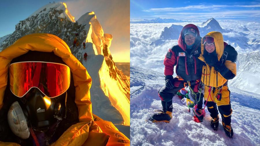 Une Québécoise au sommet de l'Everest