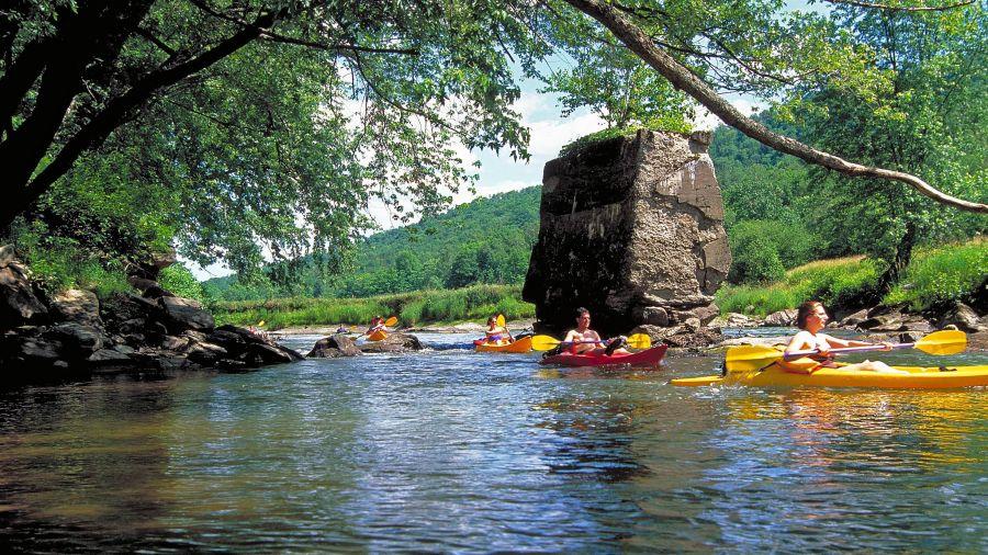 Kayak dans le comté de Brome-Missisquoi: Le Diable Vert