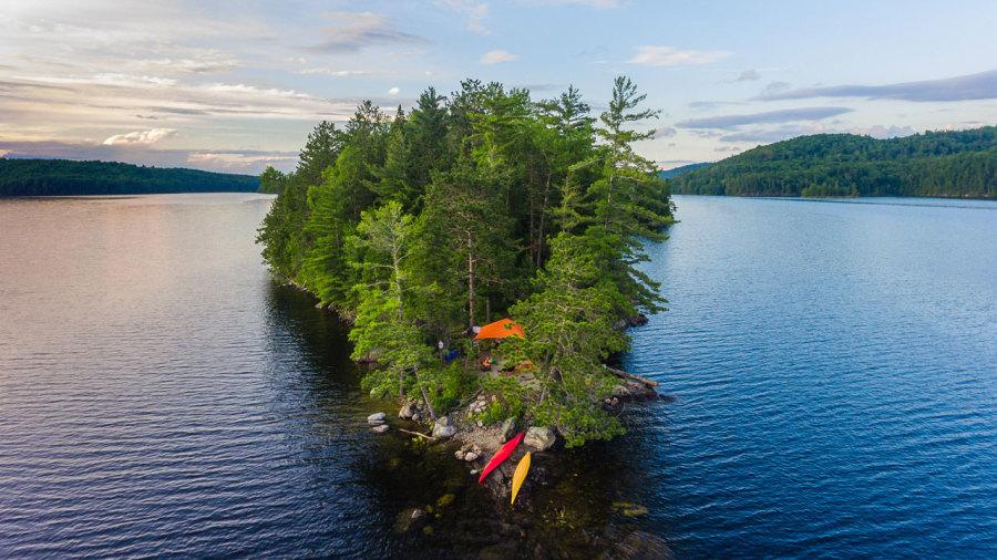 Répertoire des îles où camper au Québec