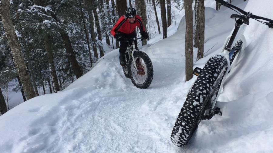 Fatbike : Efforts et réconforts au mont Orford