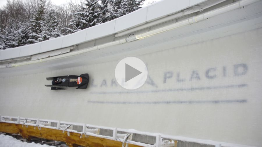 60 secondes de bobsleigh à Lake Placid