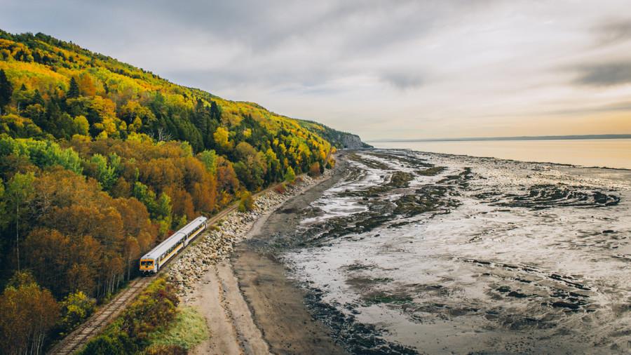 De Montréal à Charlevoix en train cet automne