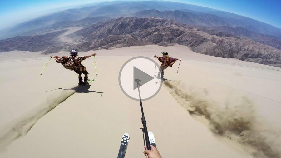 [Vidéo] Skier sur les dunes de sable du Pérou