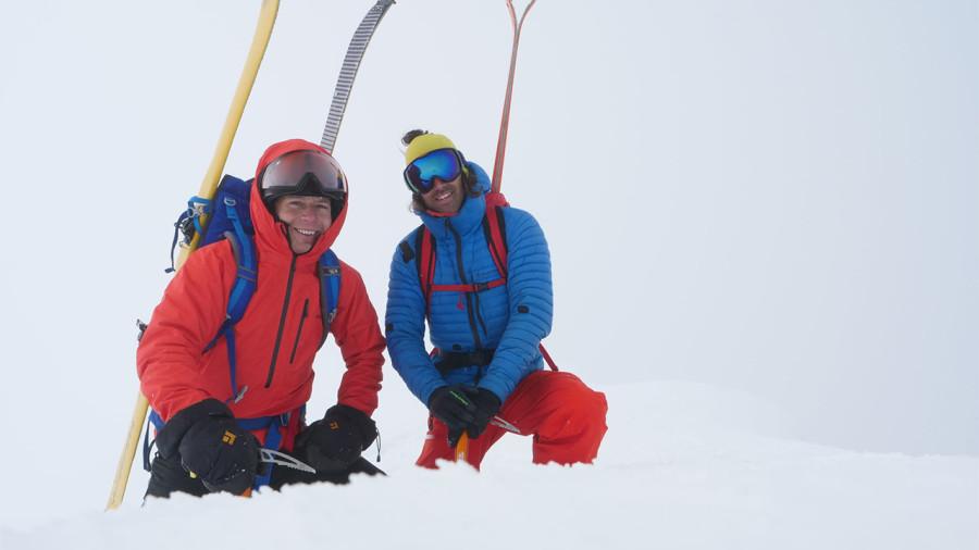 Frédéric Dion et Bruno-Pierre Couture au sommet du mont Logan