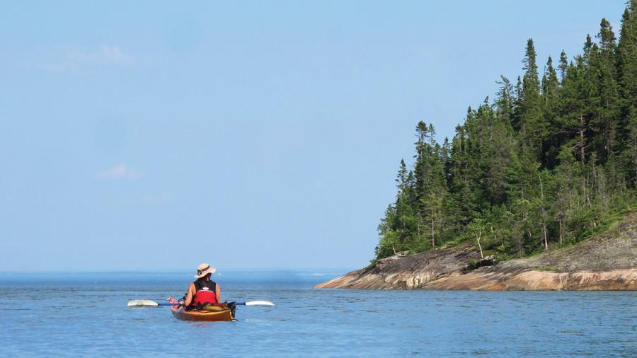 Kayak de mer : Charlevoix vu du large