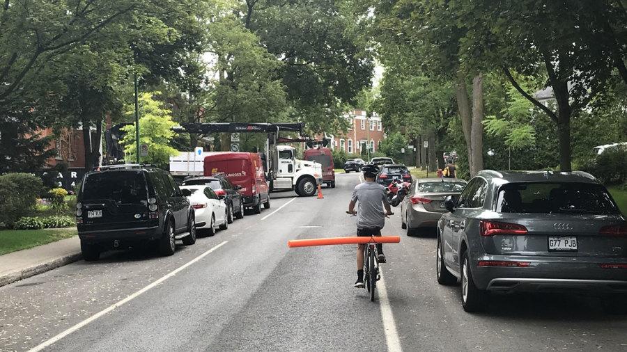 Une frite de sécurité pour cyclistes