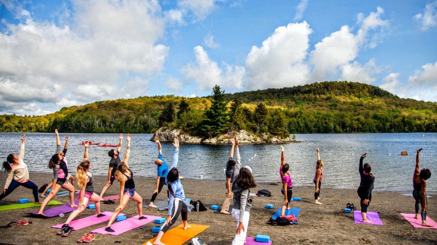 Yoga avec vue au Québec