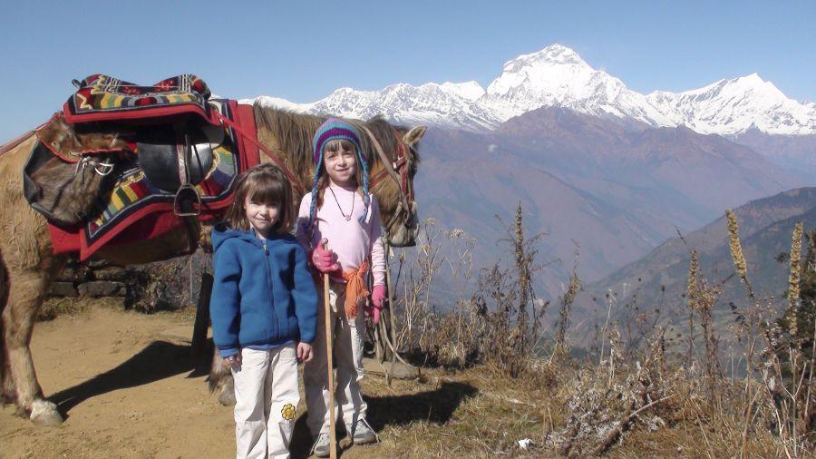 Un trek avec de jeunes enfants