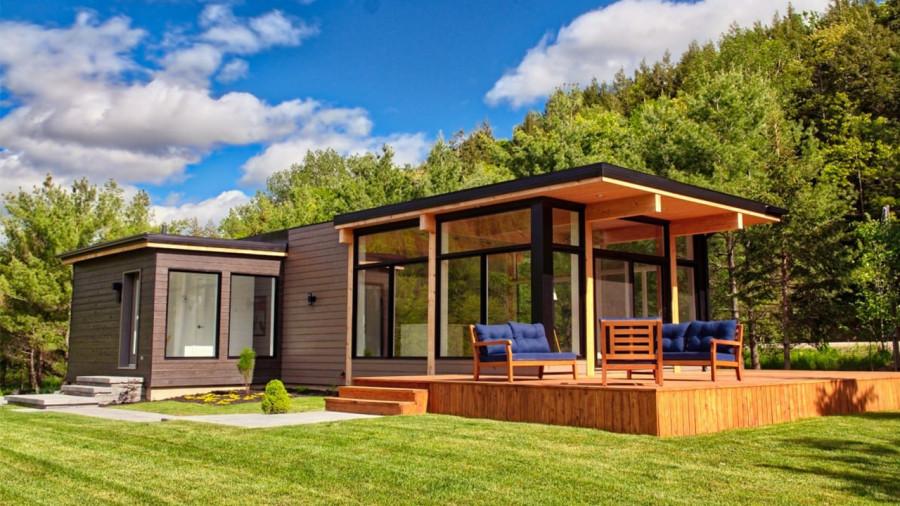 Une cabine moderne et bucolique pour admirer le ciel étoilé