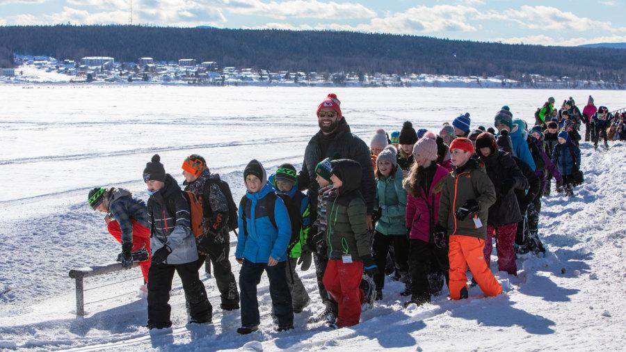 La fois où… j'ai traversé la baie de Gaspé avec 200enfants et Laurent Duvernay-Tardif