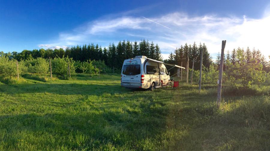 5 vergers où aller camper avec sa van cet automne près de Montréal