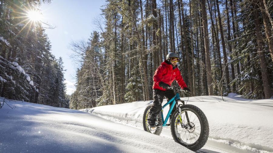 28 km de fatbike au parc national du Mont-Orford