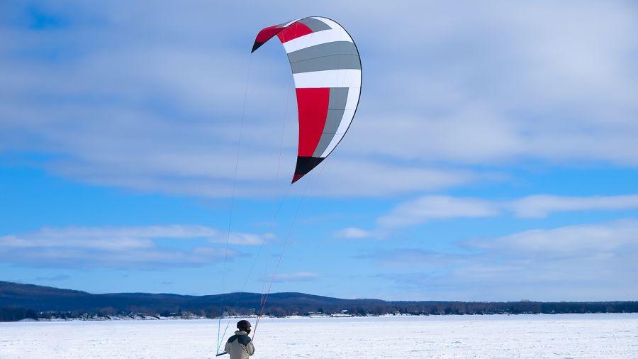 Québec : Snowkite à la Baie de Beauport