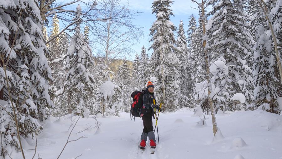 Du ski hors-piste au parc régional du Massif du Sud