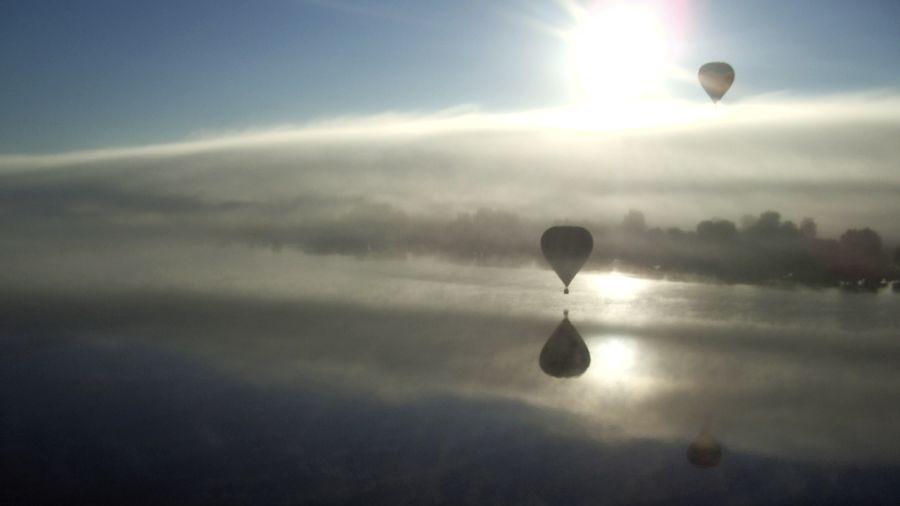 Du haut des airs: Montgolfière