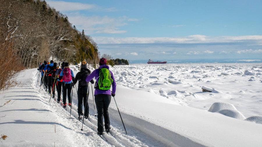 La Virée Nordique de Charlevoix : 42 km en ski de fond le long du fleuve