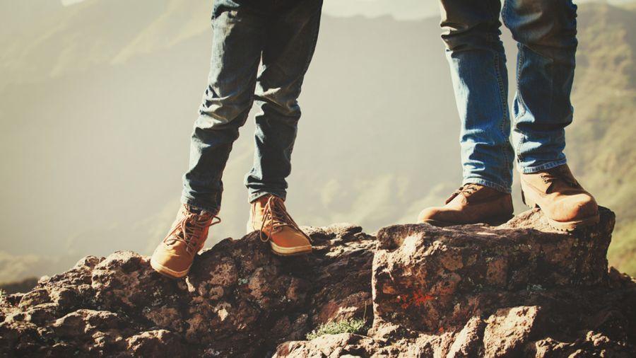 Rando père-fils sur le mont Cascade