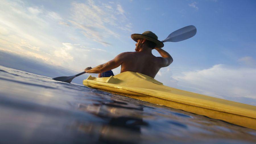 Kayak de mer sur la côte de Charlevoix