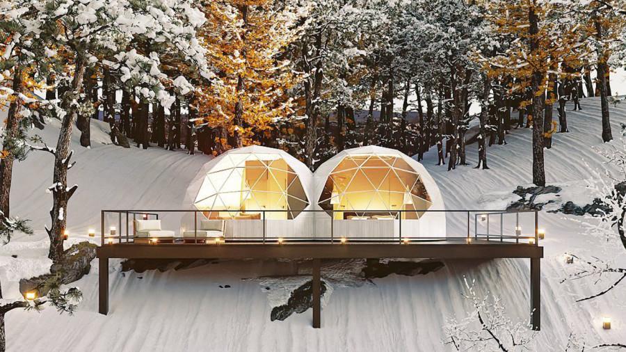 Un « double dôme » pour un séjour de luxe à Mont-Tremblant