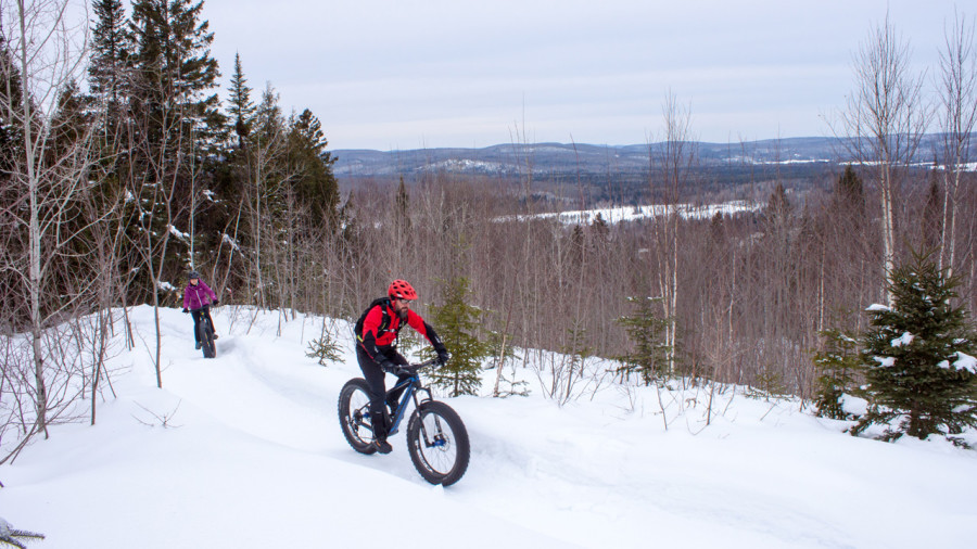 Fatbike au Mont SM : du cross-country sur neige