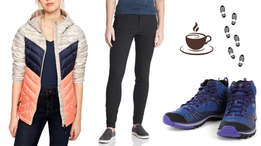 Vêtements polyvalents pour elles : Du café aux sentiers